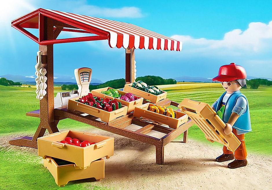 6121 Marchand avec étal de légumes  detail image 6