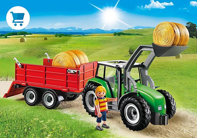 6130_product_detail/Duży traktor z przyczepą