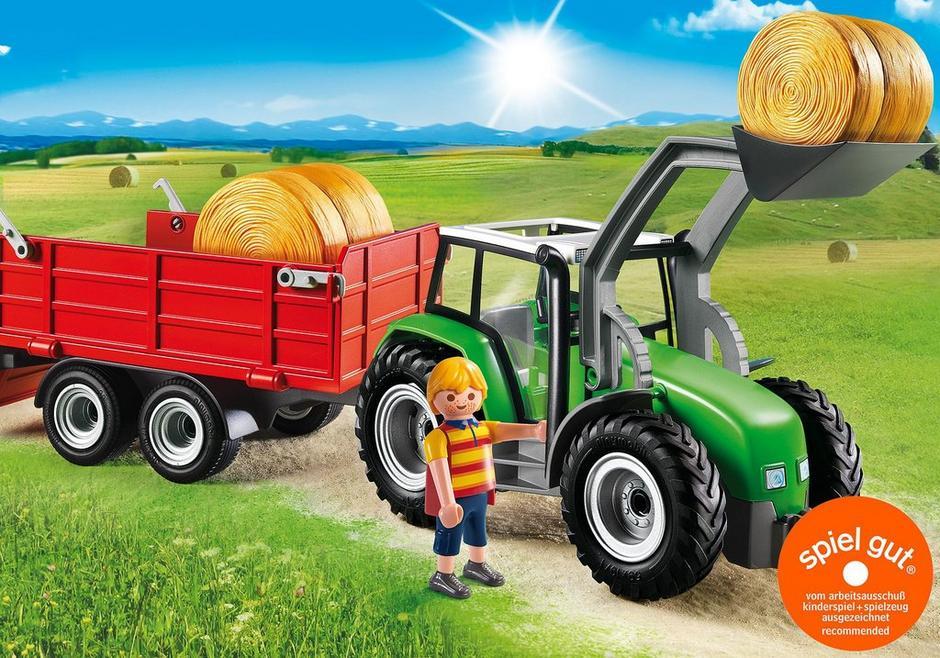 Großer traktor mit anhänger 6130 playmobil® deutschland