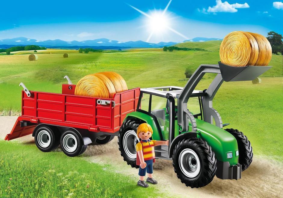 large tractor with trailer 6130 playmobil united kingdom. Black Bedroom Furniture Sets. Home Design Ideas