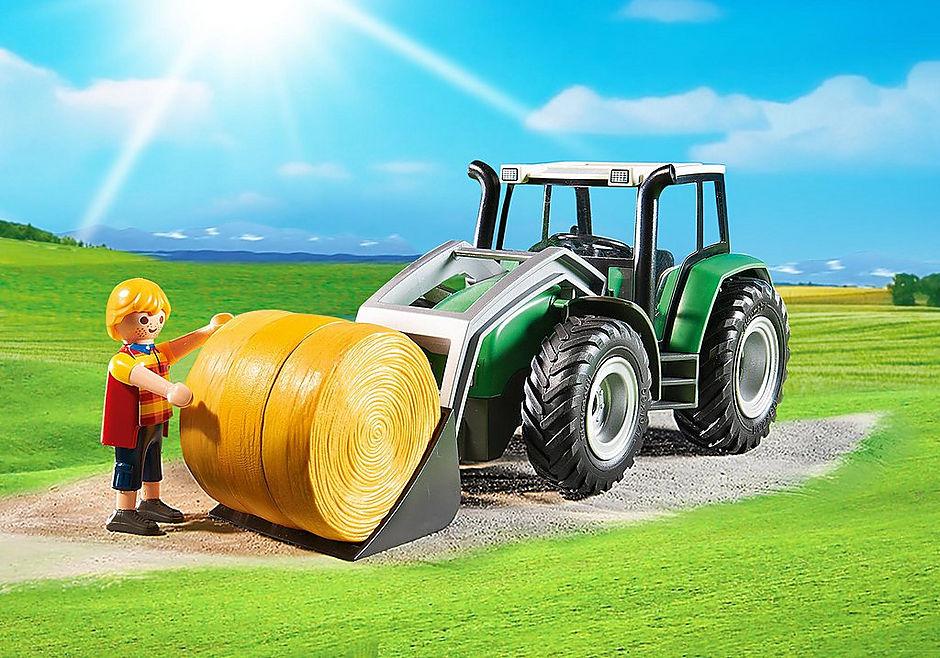 http://media.playmobil.com/i/playmobil/6130_product_extra2/Duży traktor z przyczepą