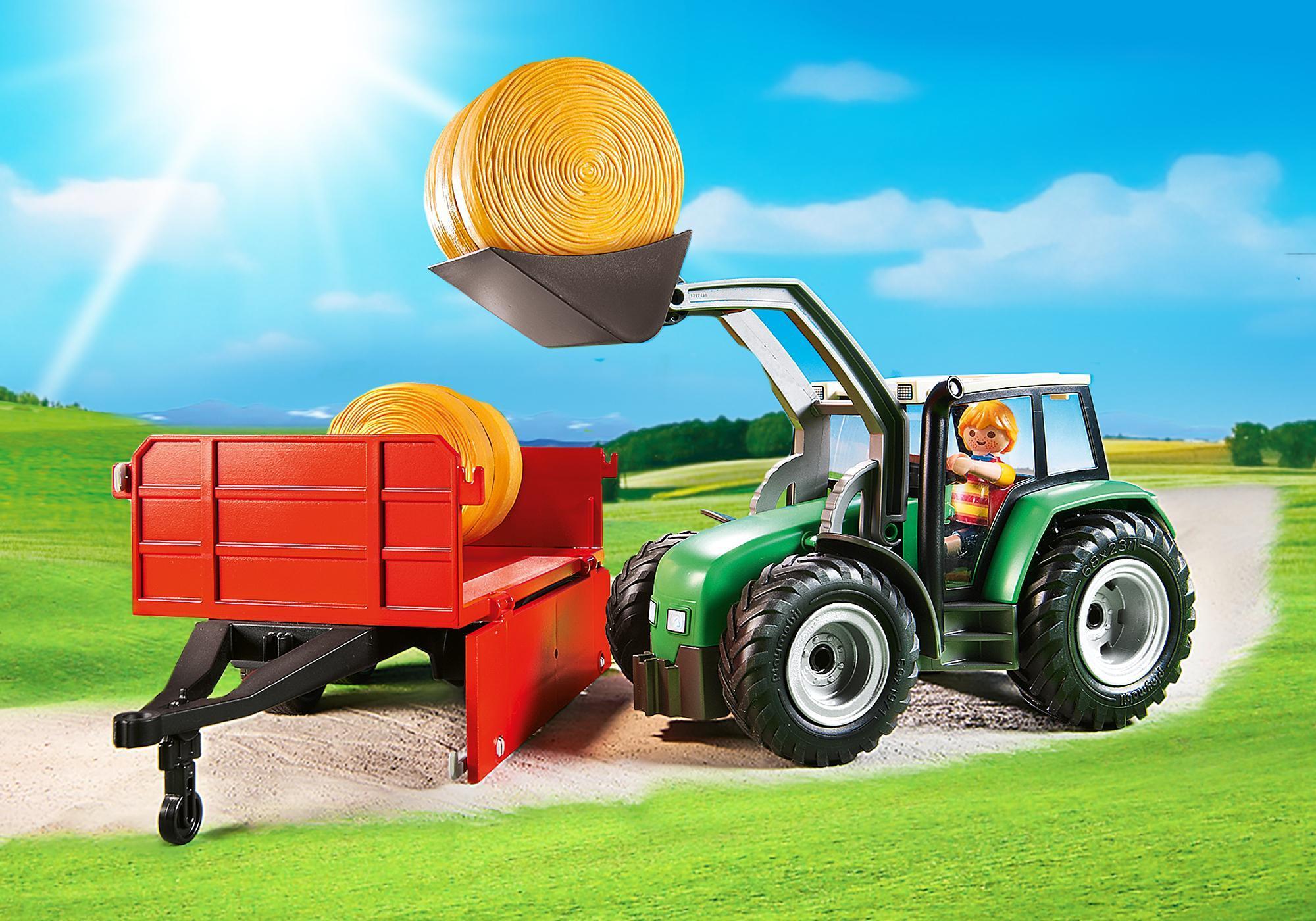 http://media.playmobil.com/i/playmobil/6130_product_extra3/Duży traktor z przyczepą
