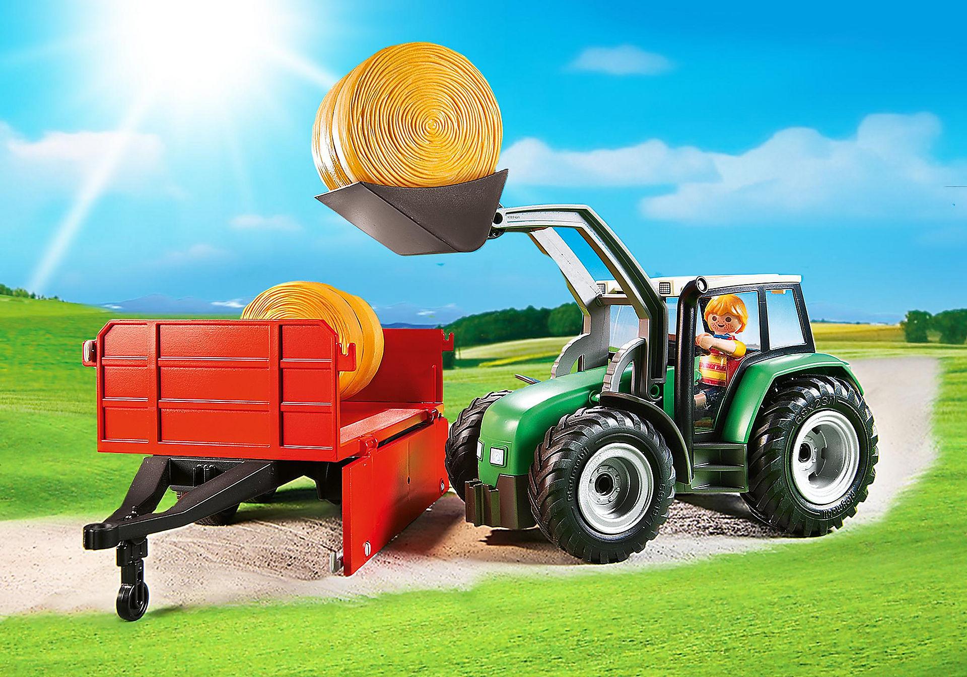 http://media.playmobil.com/i/playmobil/6130_product_extra3/Tractor met aanhangwagen