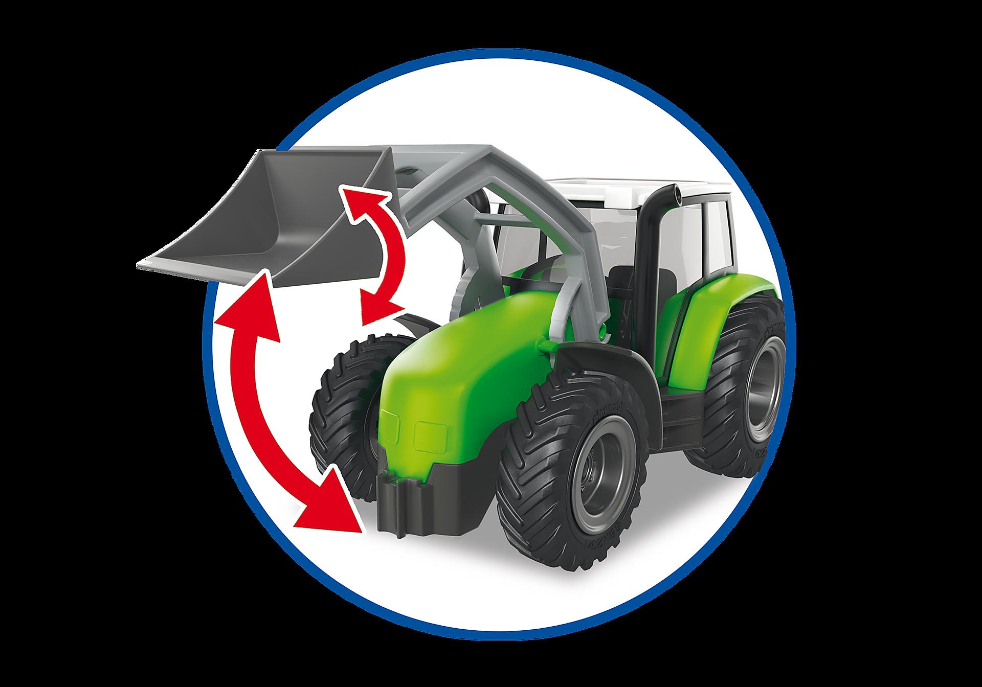 http://media.playmobil.com/i/playmobil/6130_product_extra5/Tractor met aanhangwagen