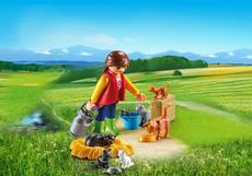 Playmobil Woman With Cat Family 6139