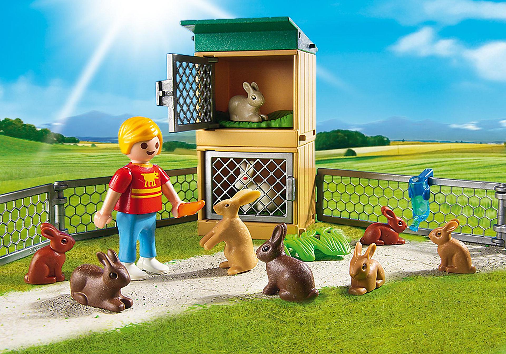 http://media.playmobil.com/i/playmobil/6140_product_extra1/Enfant avec enclos à lapins et clapier