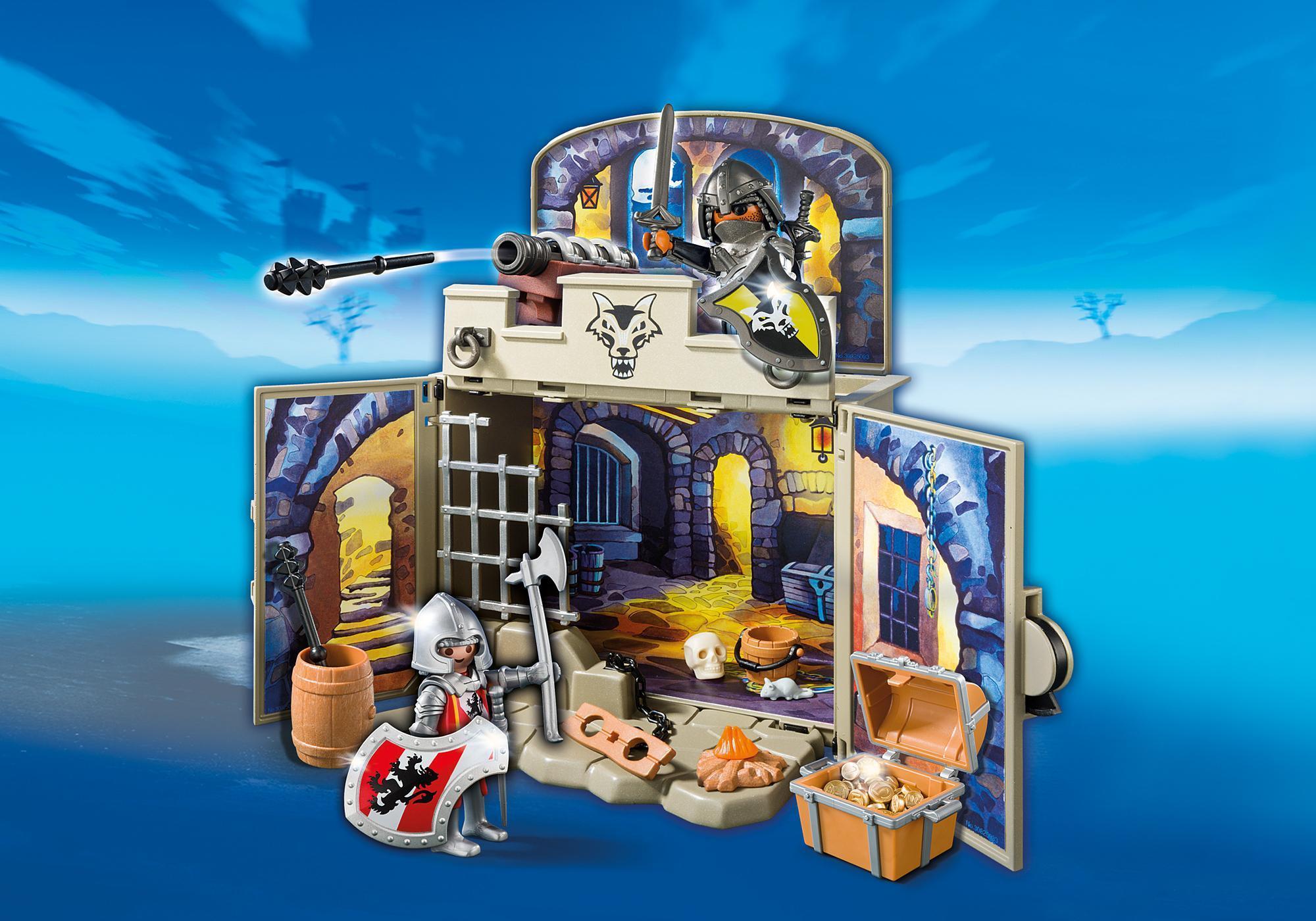 """http://media.playmobil.com/i/playmobil/6156_product_detail/Aufklapp-Spiel-Box """"Ritterschatzkammer"""""""