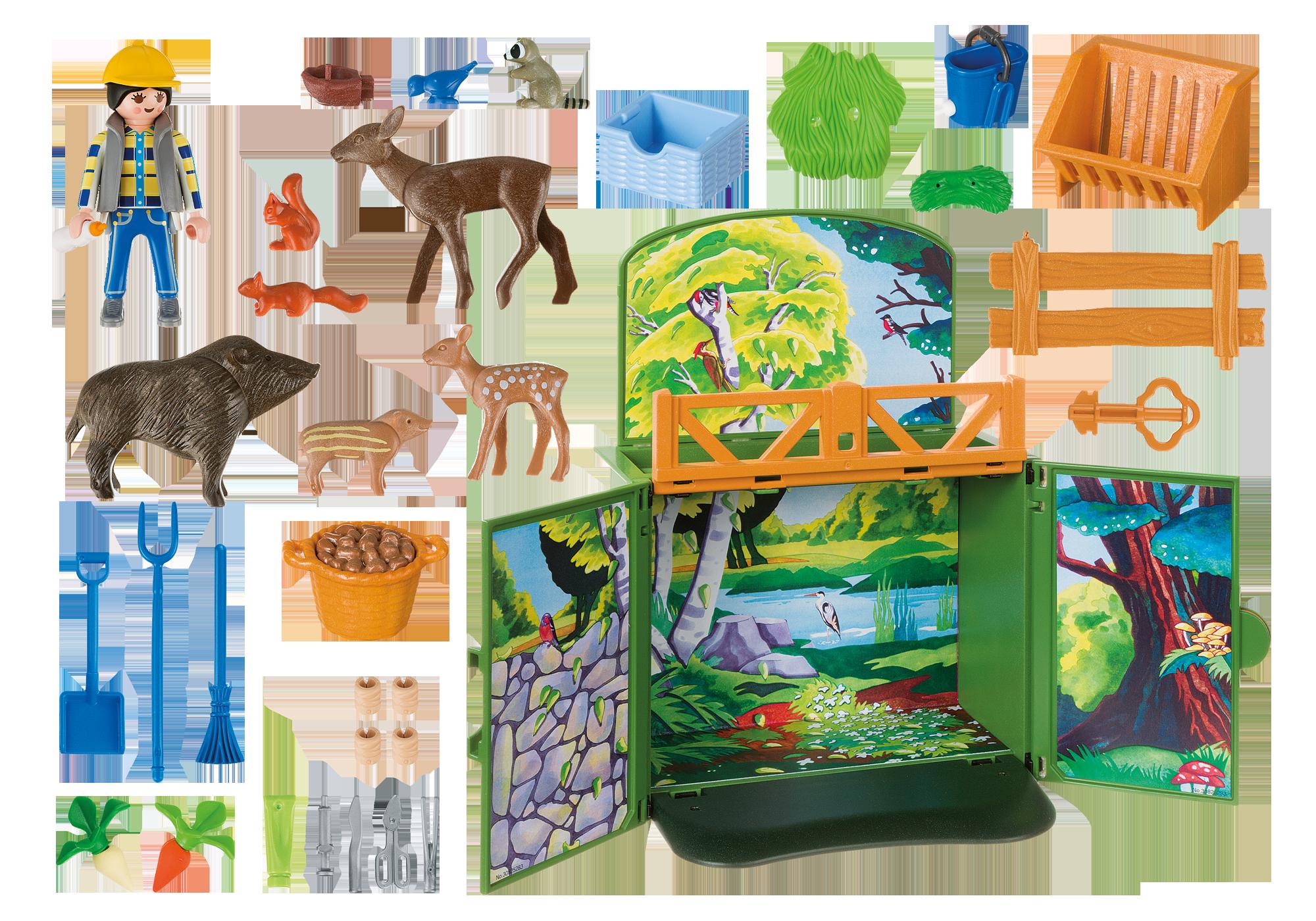 """http://media.playmobil.com/i/playmobil/6158_product_box_back/Play Box  """"Karmienie dzikich zwierząt"""""""