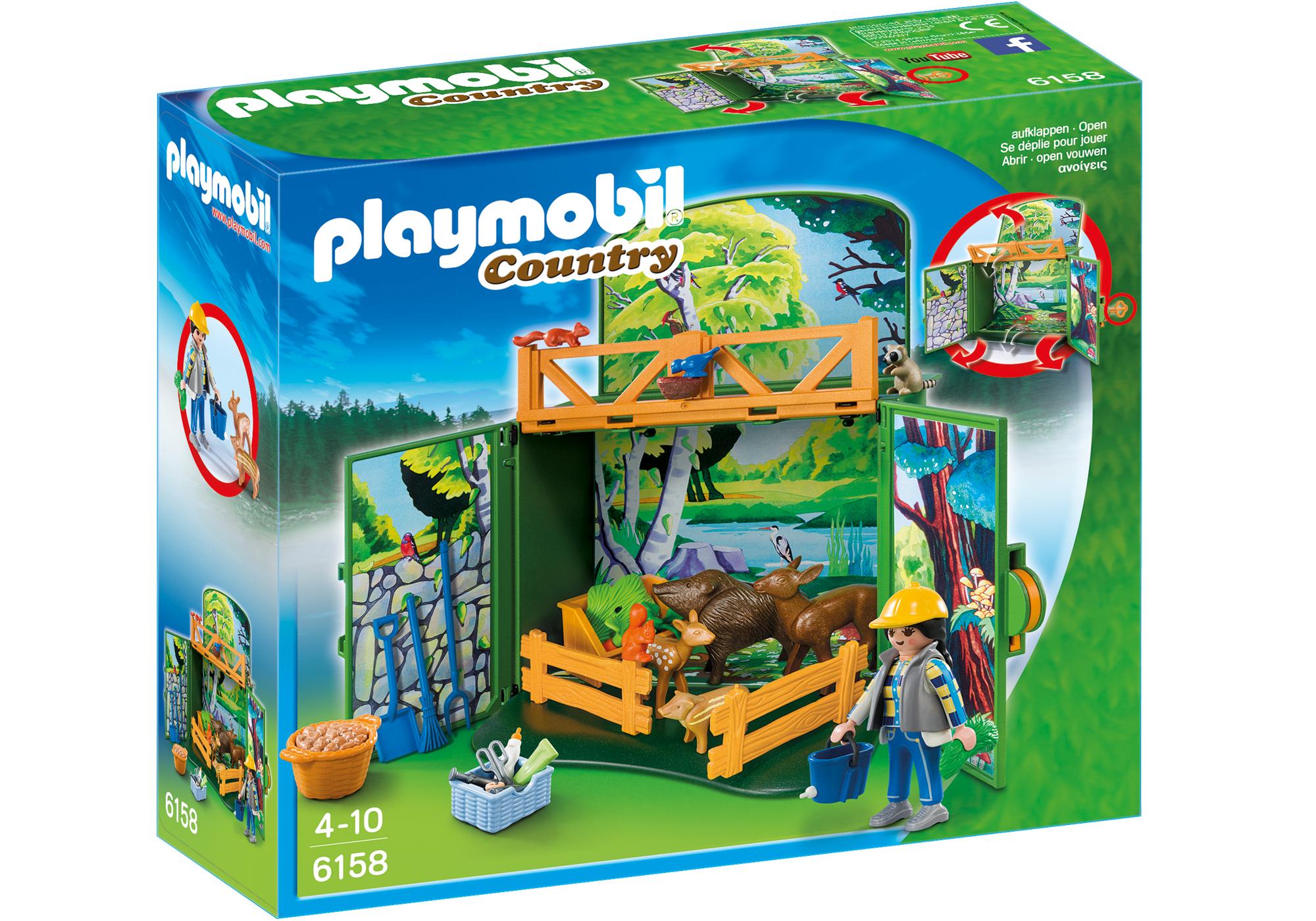 """http://media.playmobil.com/i/playmobil/6158_product_box_front/Play Box  """"Karmienie dzikich zwierząt"""""""