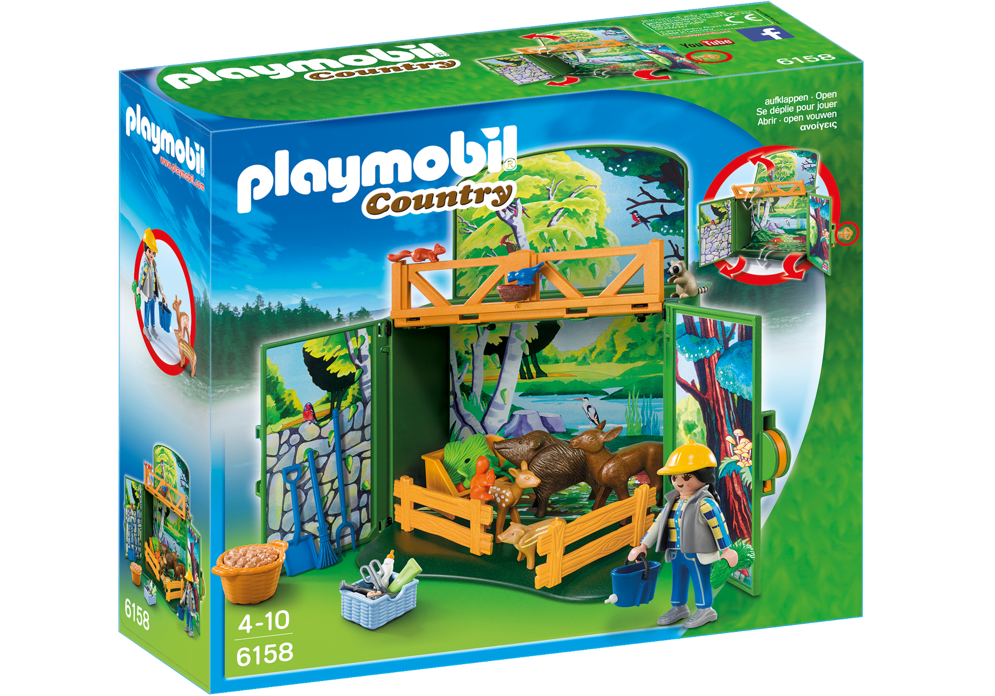 """http://media.playmobil.com/i/playmobil/6158_product_box_front/Speelbox """"Leven in het bos"""""""