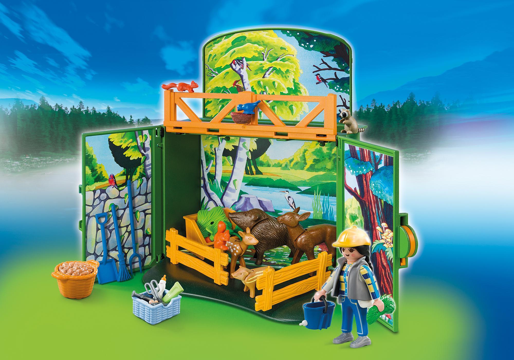 """http://media.playmobil.com/i/playmobil/6158_product_detail/Play Box  """"Karmienie dzikich zwierząt"""""""