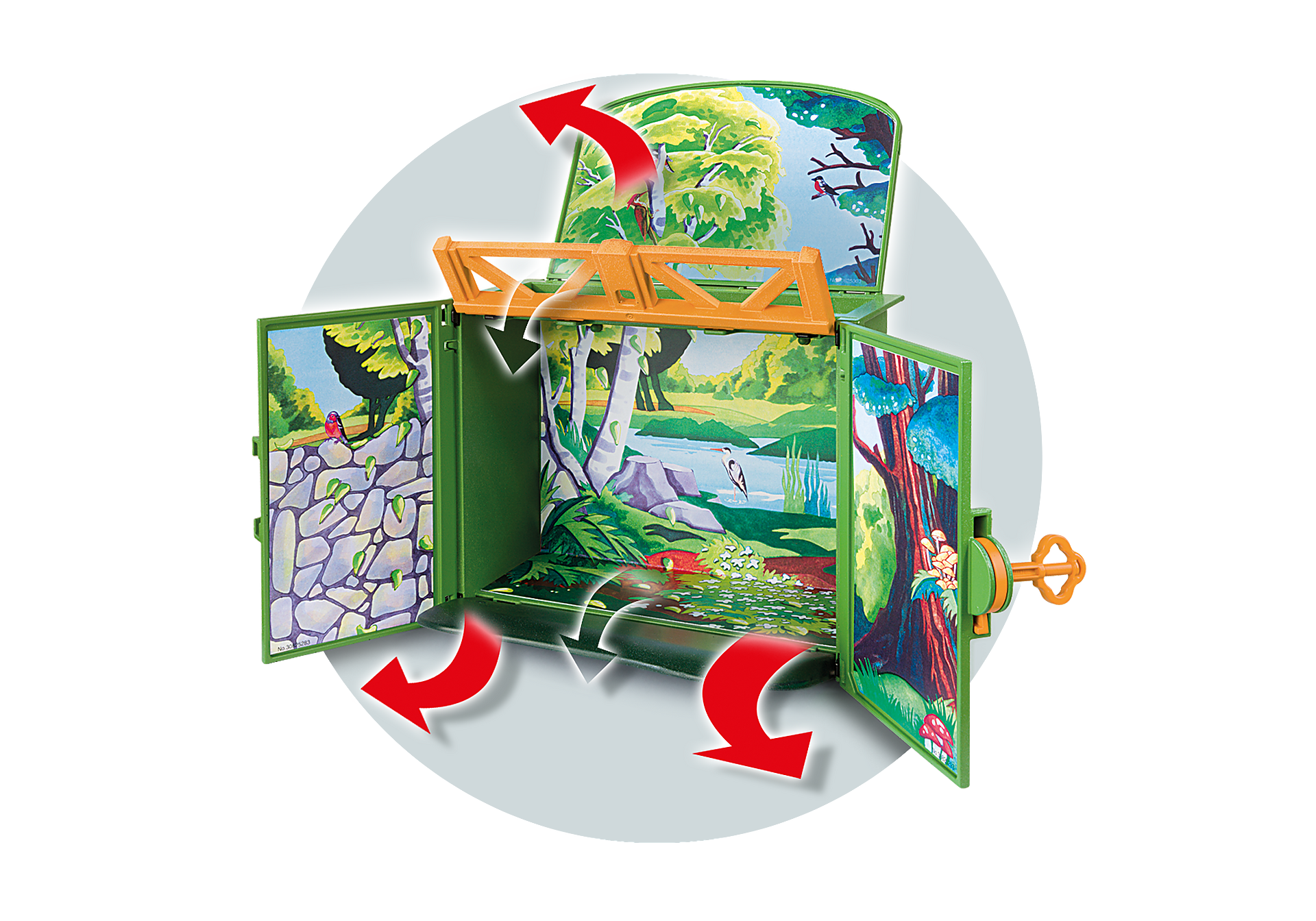 6158 My Secret Forest Animals Play Box zoom image5
