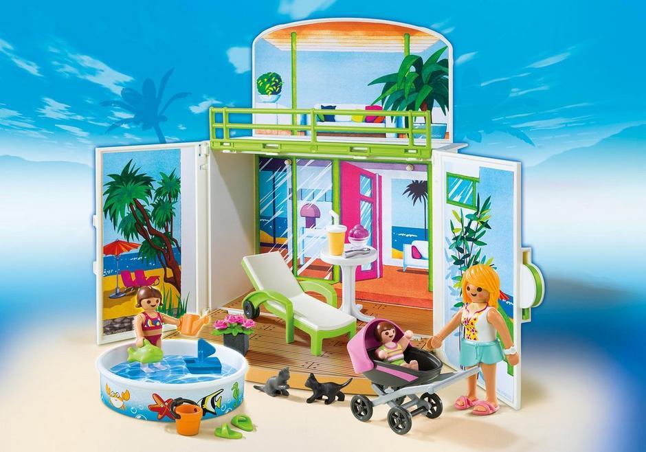 Coffre terrasse de vacances 6159 playmobil france for Piscine avec terrasse playmobil