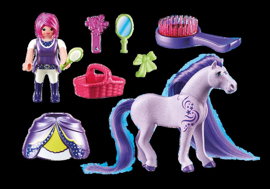Princesse violette avec cheval coiffer 6167 playmobil france - Princesse cheval ...