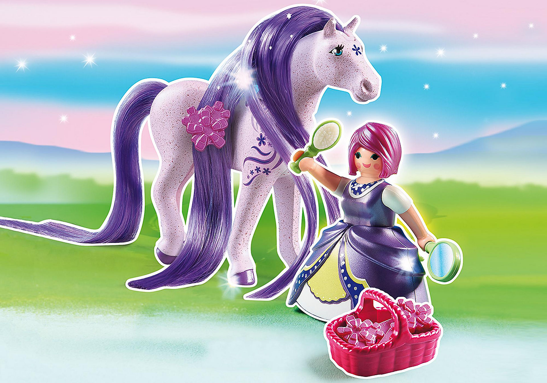 http://media.playmobil.com/i/playmobil/6167_product_detail/Принцесса Виола с Лошадкой