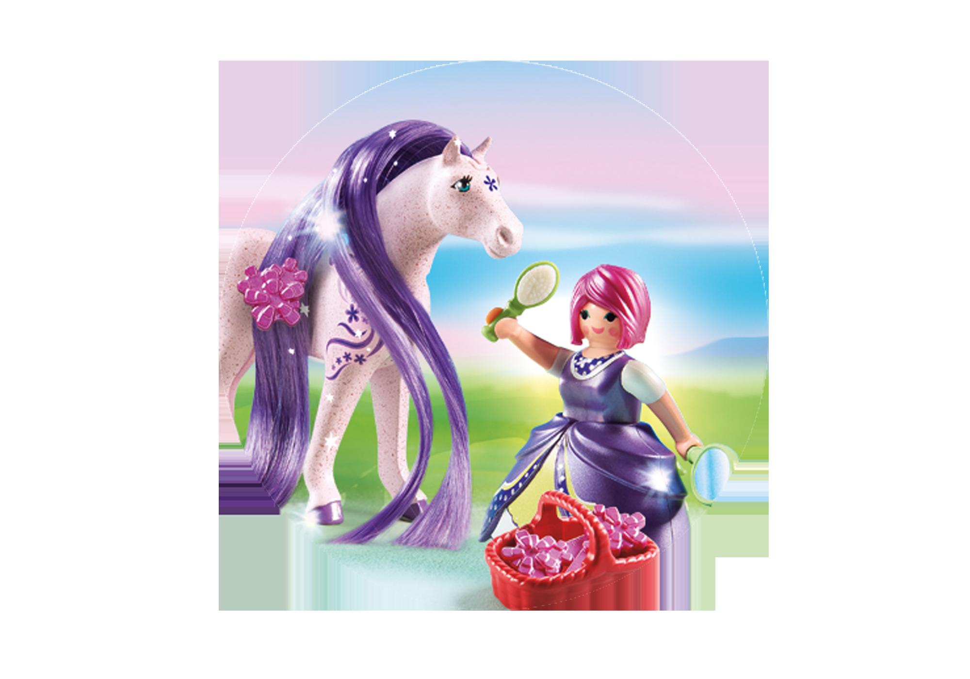 http://media.playmobil.com/i/playmobil/6167_product_extra1/Принцесса Виола с Лошадкой