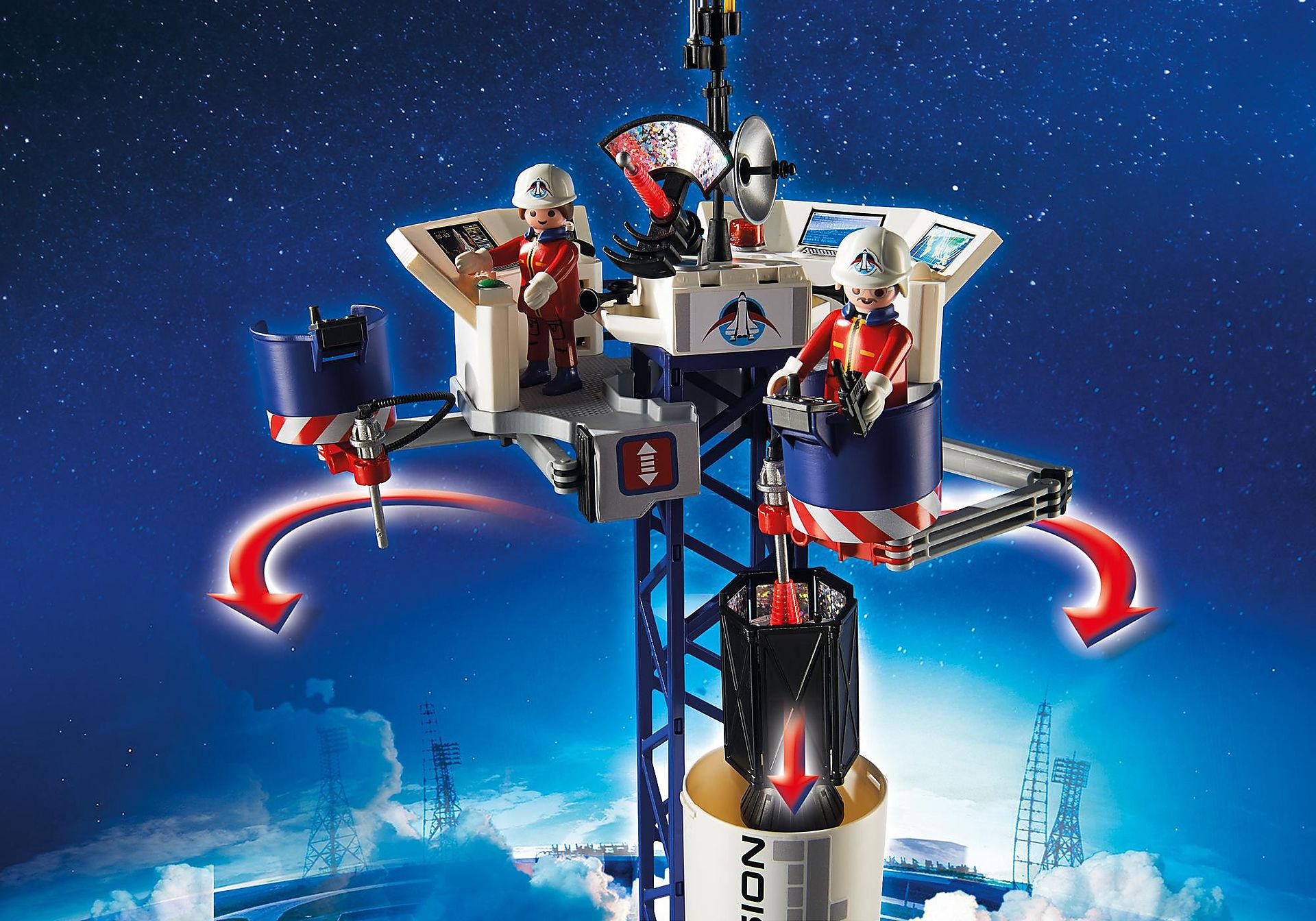 http://media.playmobil.com/i/playmobil/6195_product_extra1/Cohete con Plataforma de Lanzamiento