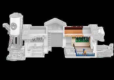 6209 Extension de l´étable pour la Ferme moderne avec silo