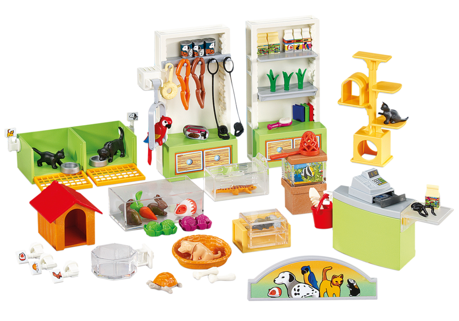 am nagement pour animalerie 6221 playmobil france. Black Bedroom Furniture Sets. Home Design Ideas