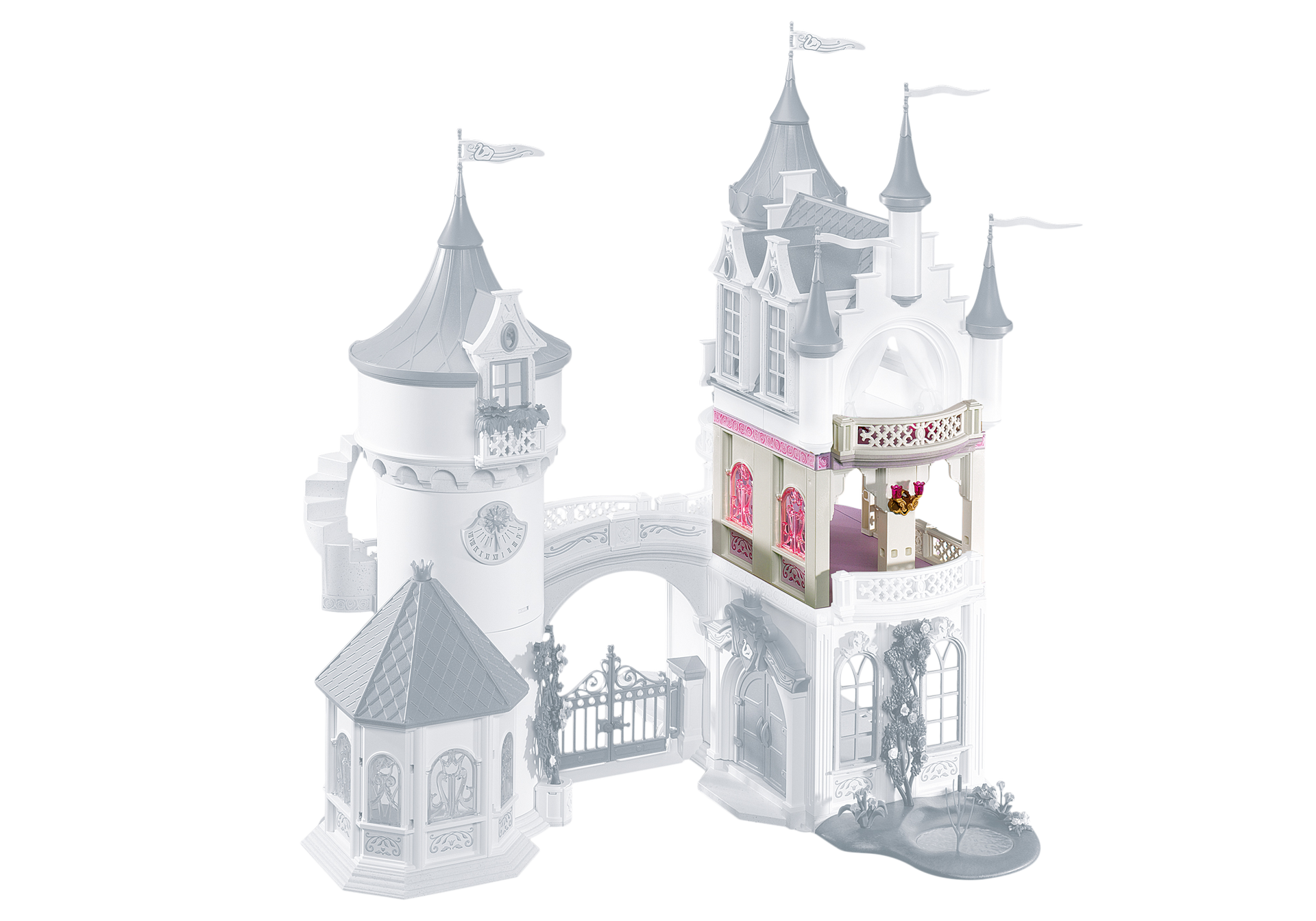 Extension for princess fantasy castle 5142 6236 for Chateau princesse playmobil 5142