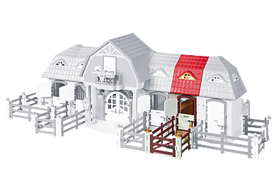 6254 Stable Extension for Large Horse Farm with Paddock (5221)