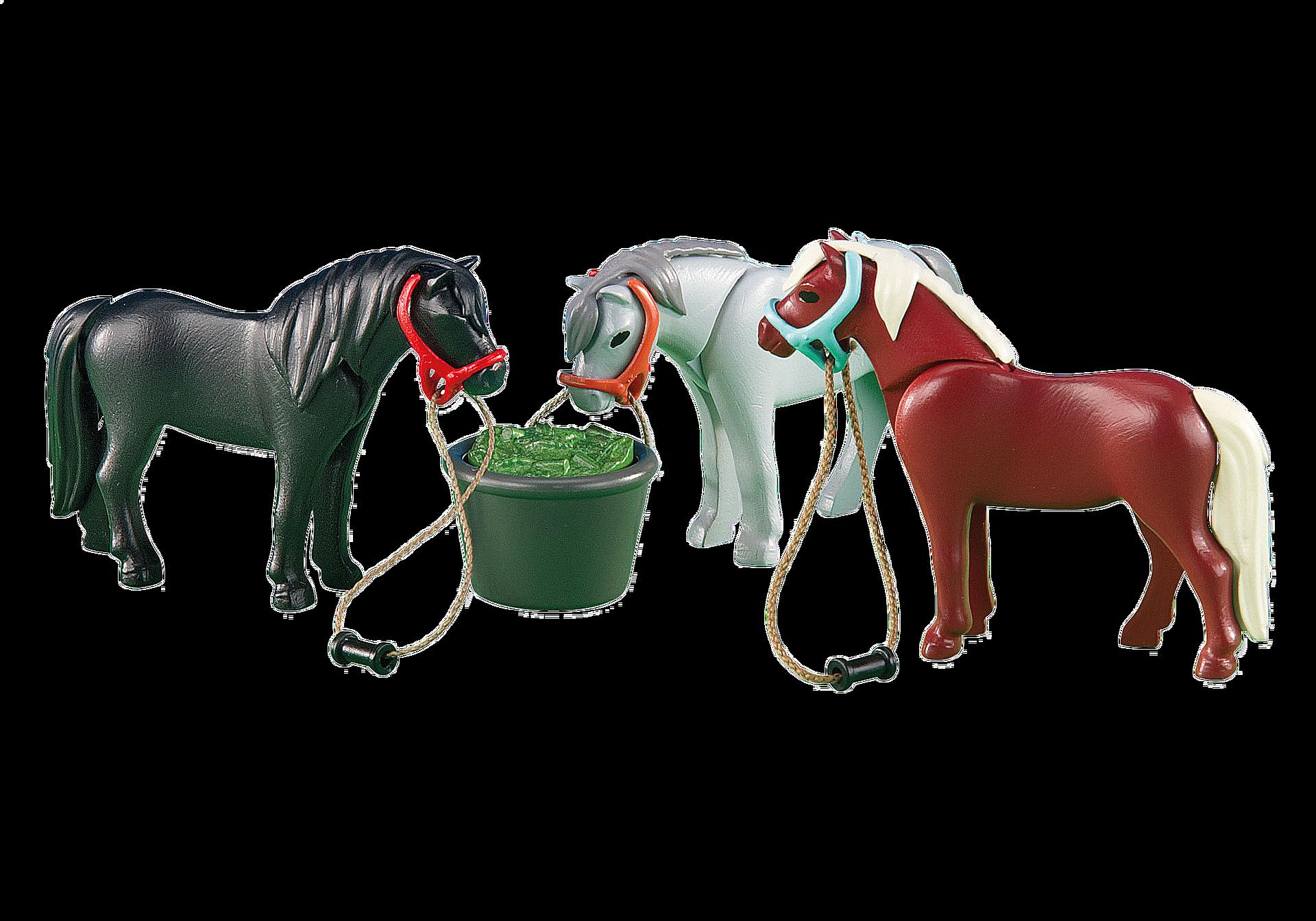6256 3 Ponys mit Futtertrog zoom image1