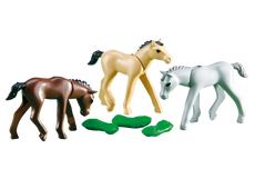 Playmobil 3 Foals With Feed 6263