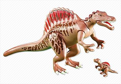 6267 Spinoszaurusz kicsinyével