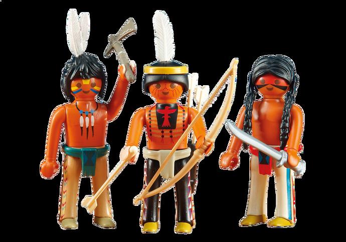 PLAYMOBIL 6323 WESTERN la famille cowboys en sachet