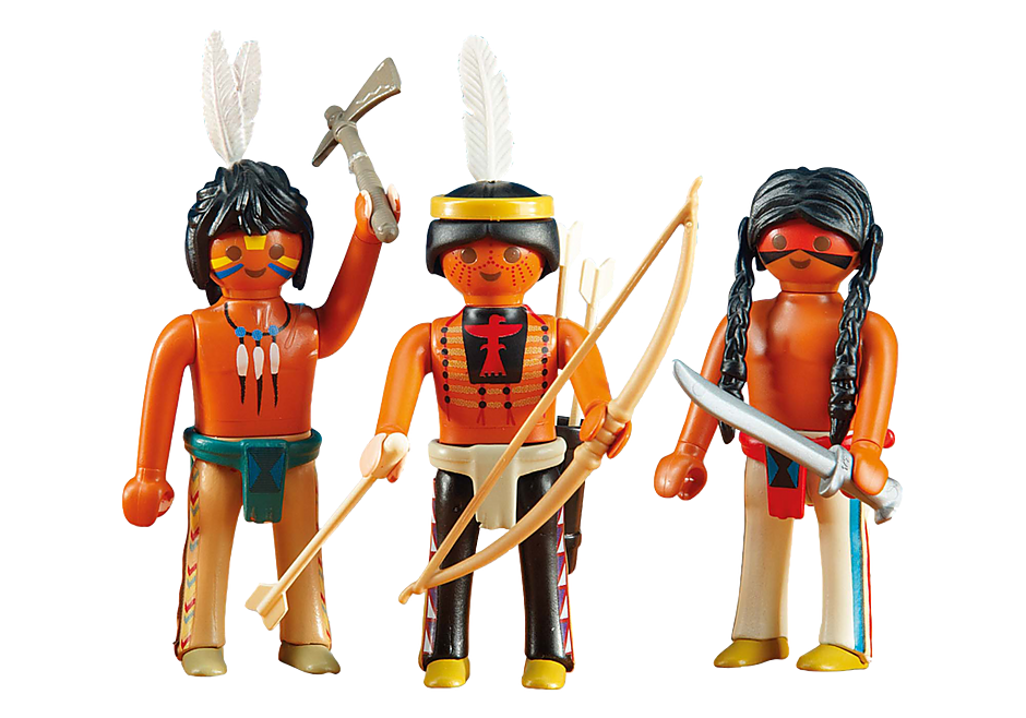 6272 3 Native American Warriors detail image 1