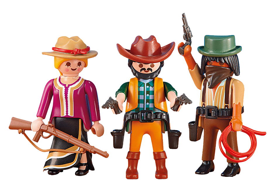 http://media.playmobil.com/i/playmobil/6278_product_detail/2 Cowboys en Cowgirl