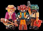 6278 2 Cowboys mit Cowgirl