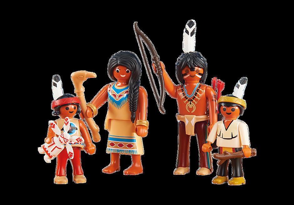 6322 Famille amérindienne detail image 1