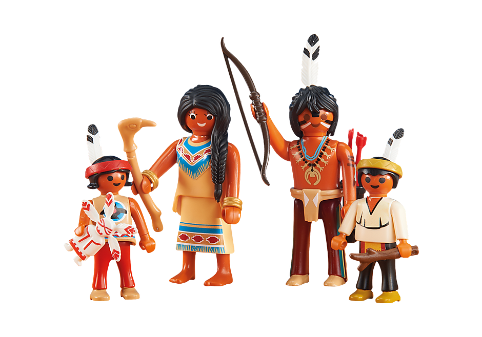 6322 Native American Family II detail image 1