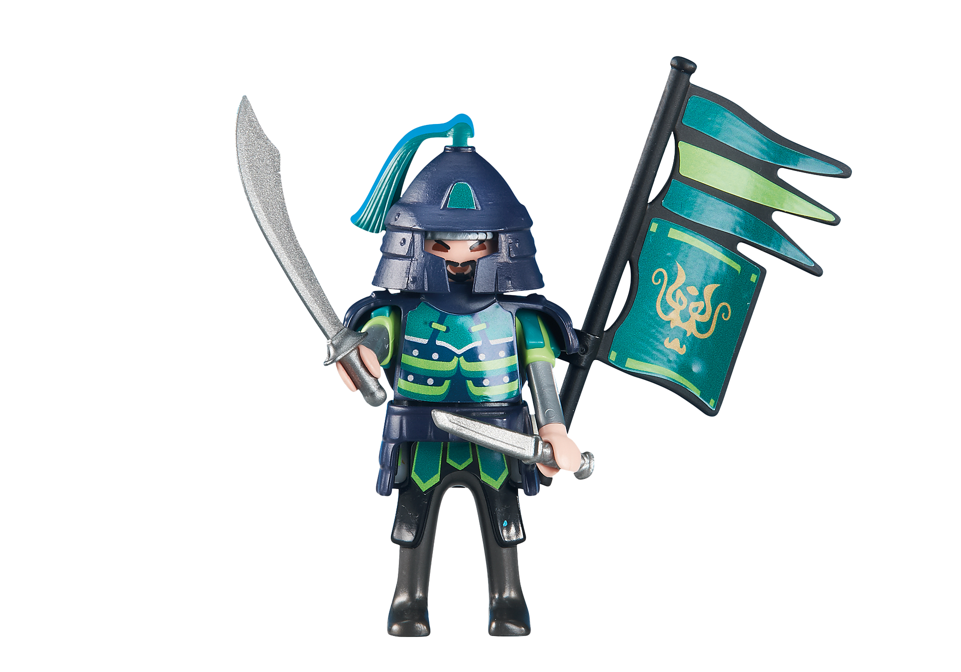 6327 Green Samurai Knights Leader zoom image1
