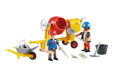 6339 2 operai con betoniera
