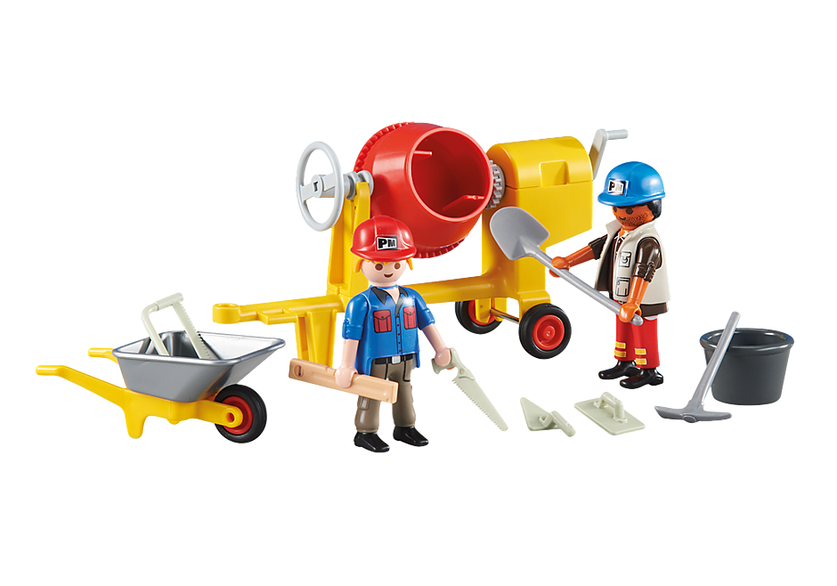 6339 Pracownicy z betoniarką detail image 1