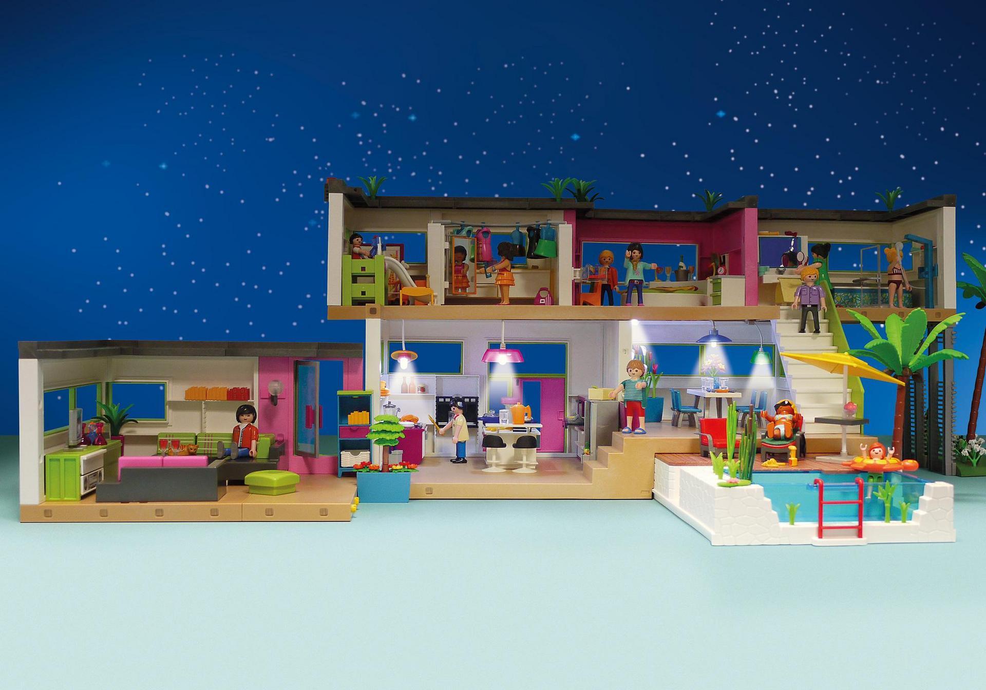 Beleuchtungs set für die moderne luxusvilla 6354 playmobil