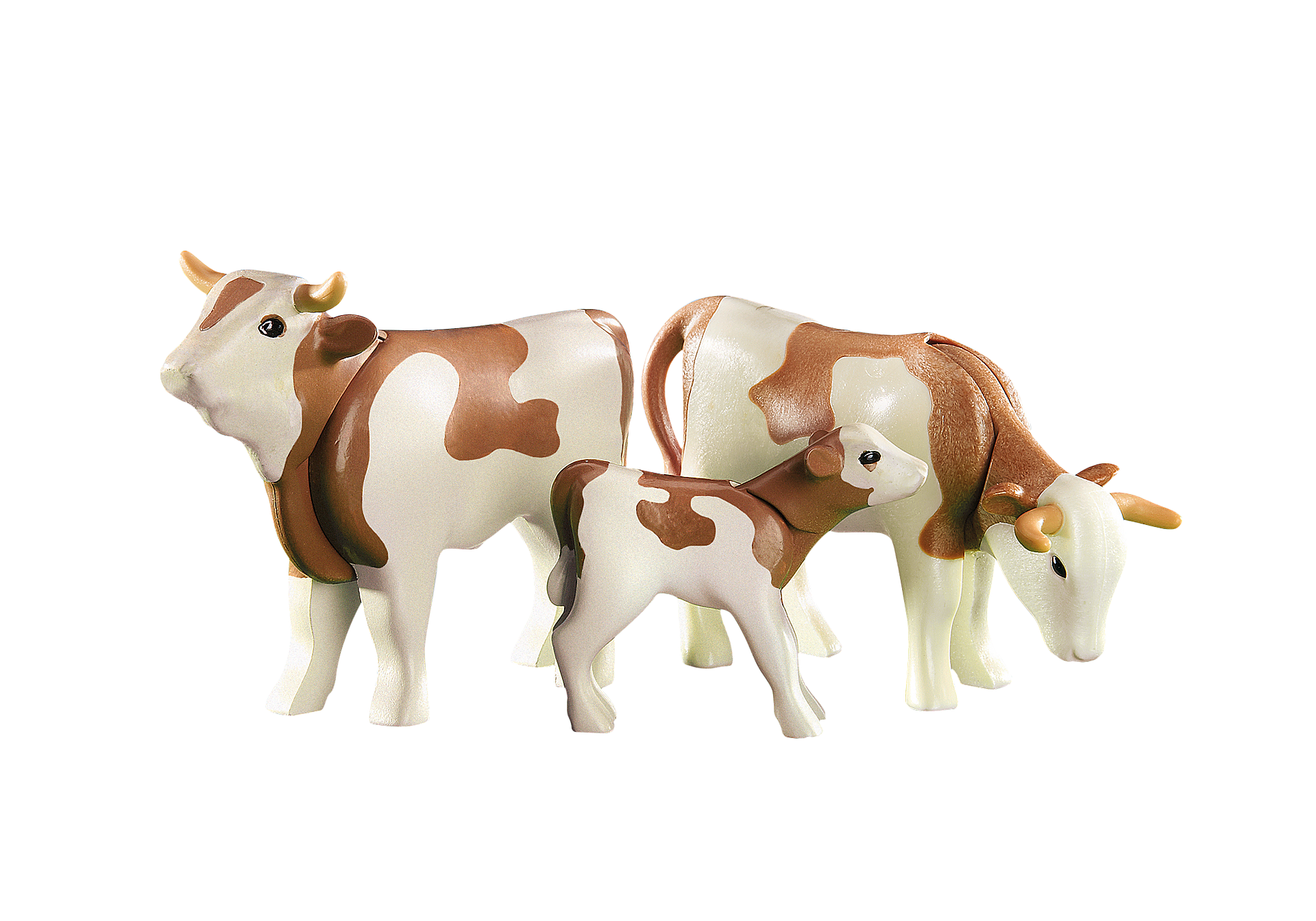 6356 2 Koeien met kalfje (bruin) zoom image1