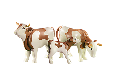 6356 2 cows with calf