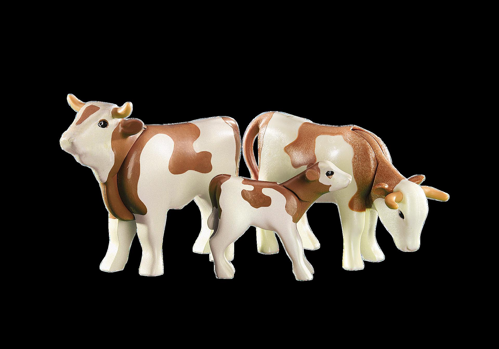 6356 2 styk kvæg med lille kalv zoom image1