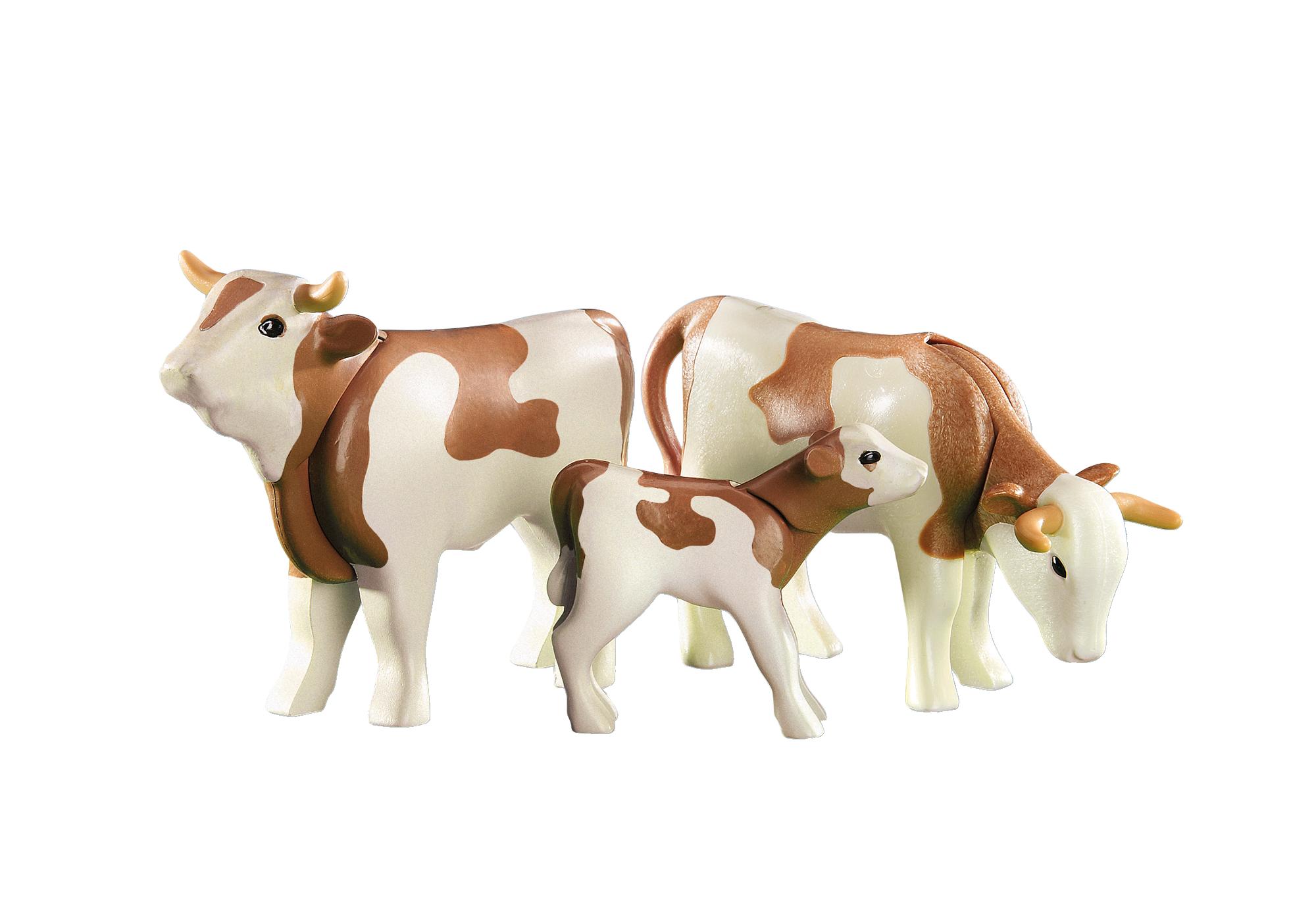 6356_product_detail/2 vaches avec veau bruns