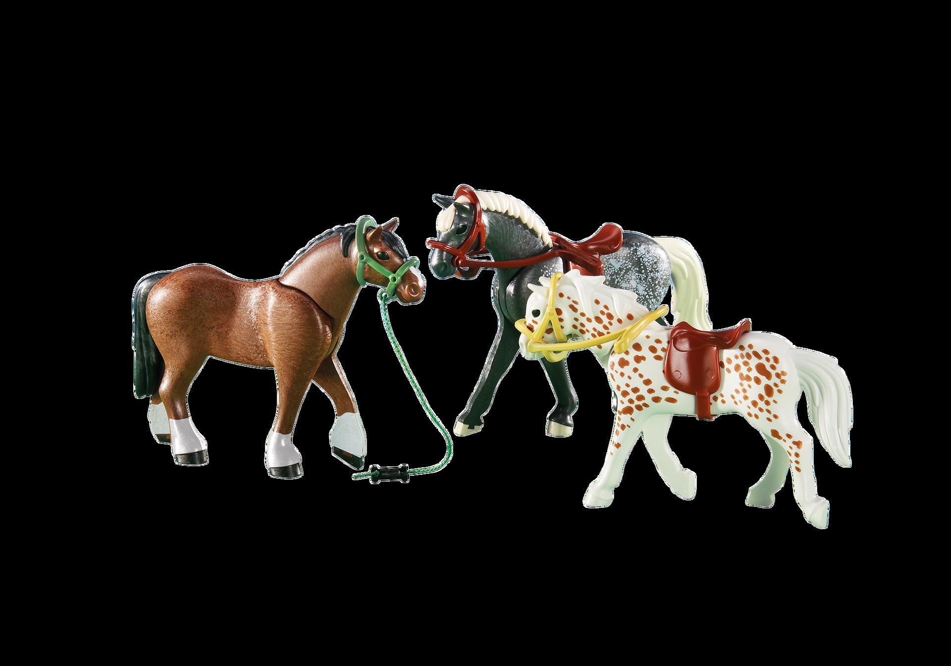 3 horses 6360 playmobil united kingdom for Playmobil pferde set