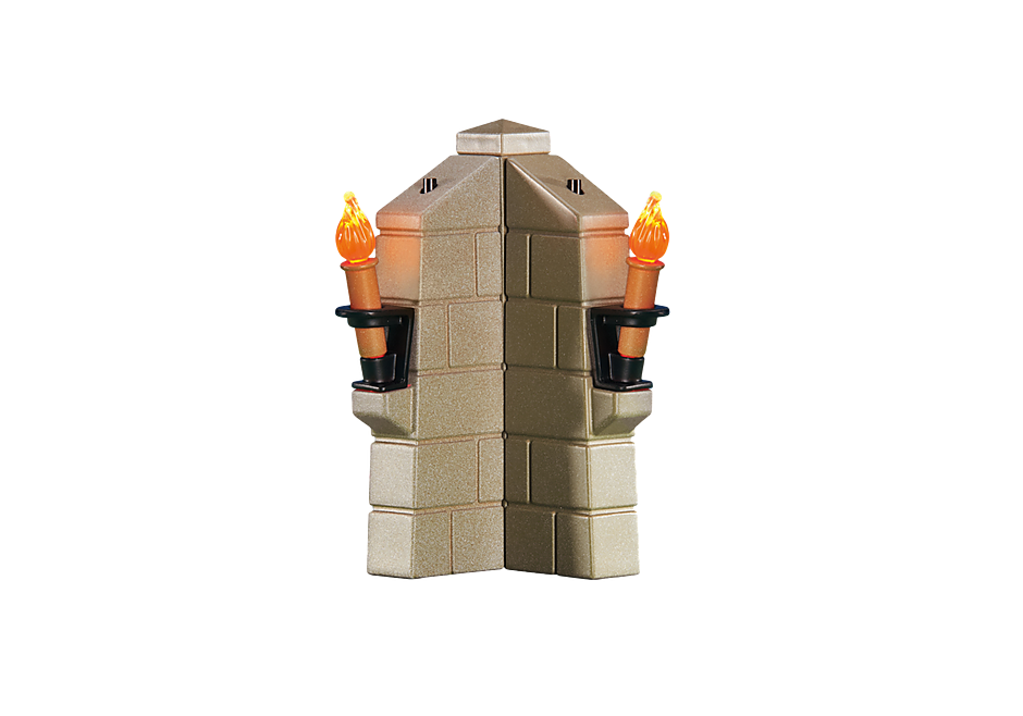 6370 Parapet avec 2 torches lumineuses detail image 1