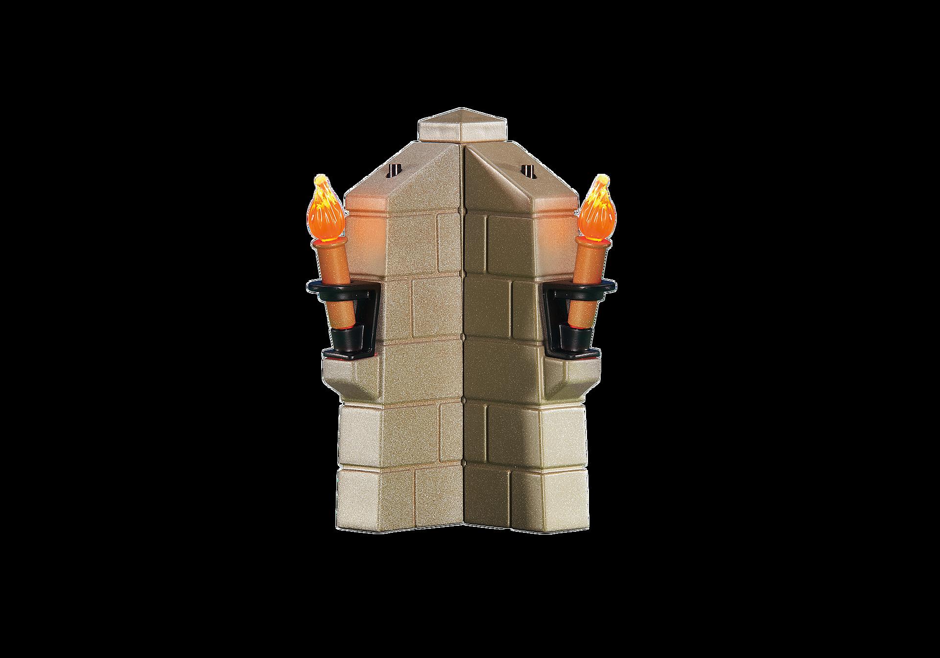 6370 Parapet avec 2 torches lumineuses zoom image1