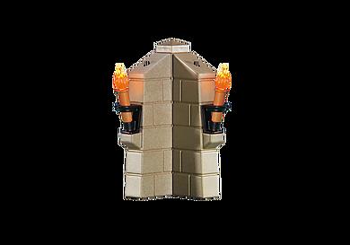 6370 Parapet avec 2 torches lumineuses