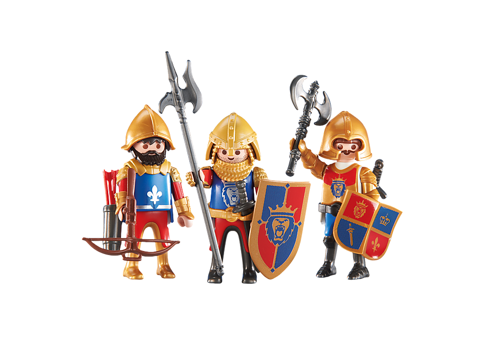 http://media.playmobil.com/i/playmobil/6379_product_detail/3 chevaliers du Lion Impérial