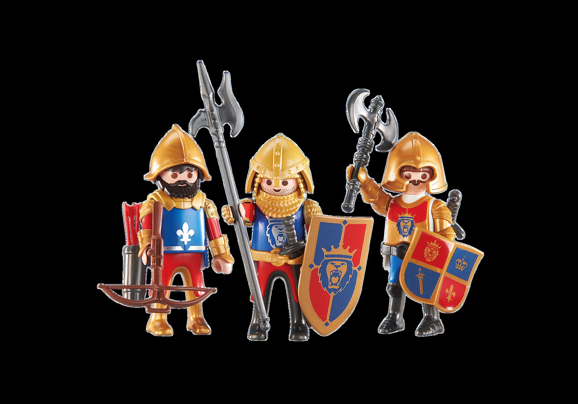 http://media.playmobil.com/i/playmobil/6379_product_detail/3 chevaliers du Lion Impérial