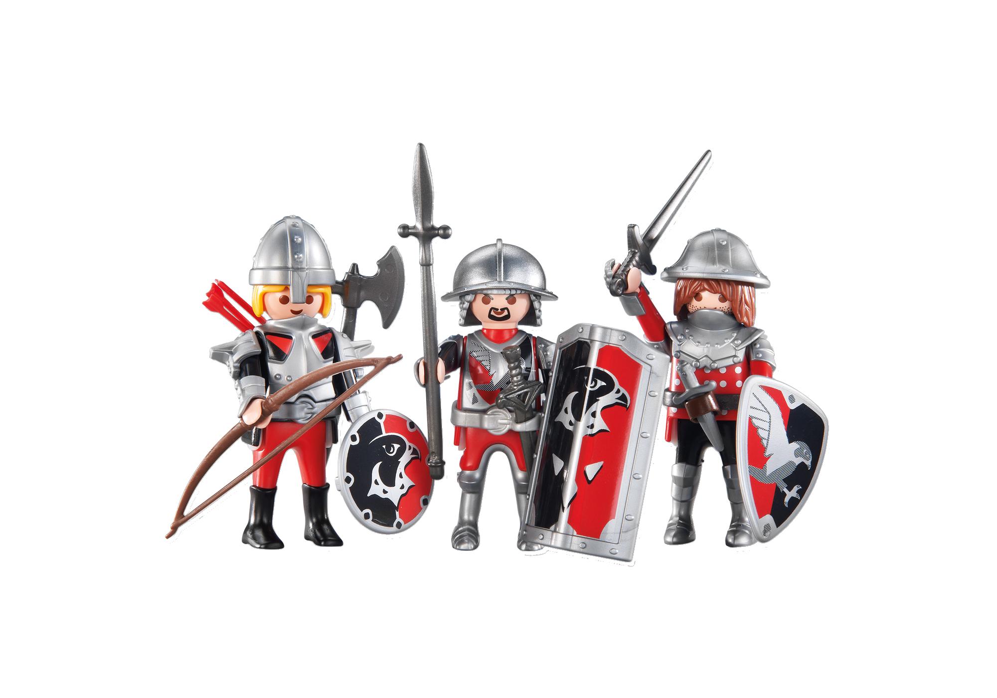 http://media.playmobil.com/i/playmobil/6381_product_detail/3 chevaliers de l'Aigle