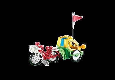 6388 Fahrrad mit Kinderanhänger